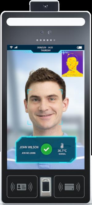 Controlador de acceso por medio de reconocimiento facial con sensor de temperatura corporal - WATFR-05